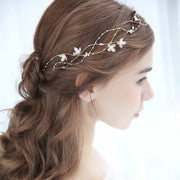 Flower Pearl Vine Design Bridal Wedding Accessory Hairband
