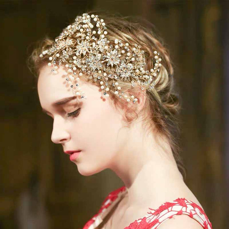 Crystal Hair Side Bridal Wedding Accessory Hairband
