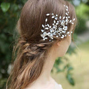 Crystal Side Swept Hair Bridal Wedding Accessory Hairband