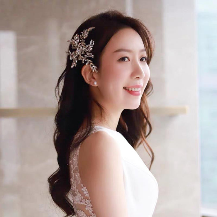 Clear Crystal Handmade Bridal Wedding Accessory Hairband