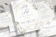 Minimalist Geometric Border Complete Stationery and Invitation Suite Set Including Personal Customization