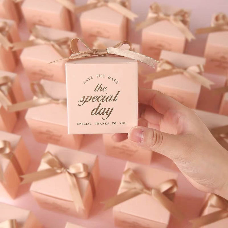 50 PCS Green Square Wedding Candy Boxes for Guest Favors