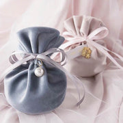 50 PCS Blue Gray or Pink Candy Bag for Guest Favors