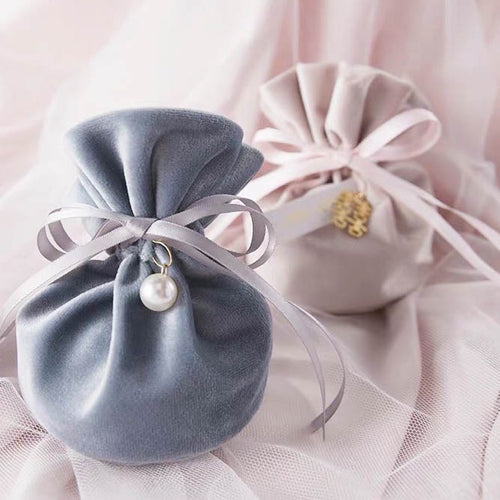 50 PCS Gray/Pink Candy Bag for Guest Favors
