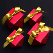 50 PCS Double Happiness Red Diamond Shaped Wedding Candy Boxes for Guest Favors