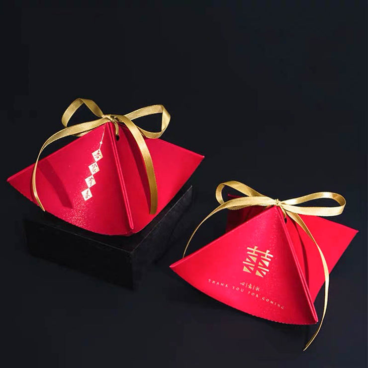 50 PCS Oriental Double Happiness Wedding Candy Boxes for Guest Favors