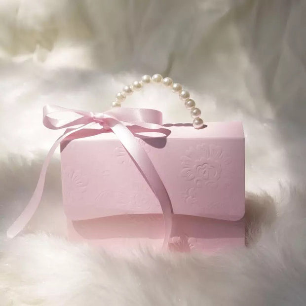 50 PCS Pearl Handle Purse Shaped Wedding Candy Box Favor Gifts