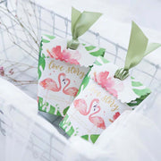 50 PCS Floral Print Wedding Candy Boxes with Ribbon
