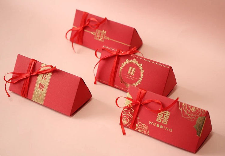 PCS Guest Favors Chinese Style Wedding Candy Boxes with Double Happiness Sign