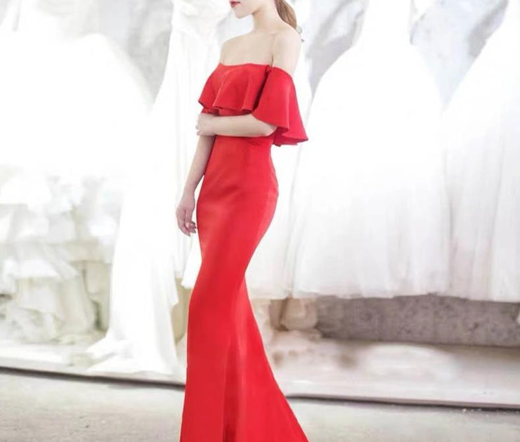 Red Tube Wedding Dress