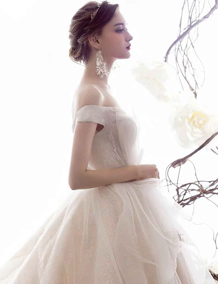 [RENT OR BUY] Custom Made Stunning Beautiful Strapless Organza Princess Ball Gown Wedding Dress
