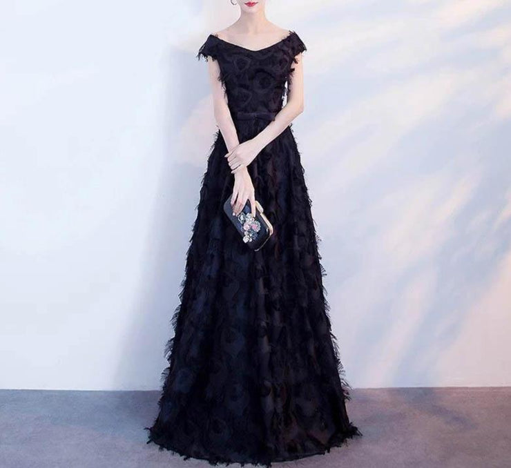 Mother of the Bride Dress [CUSTOM MADE] Black Tassel Inspired Dress