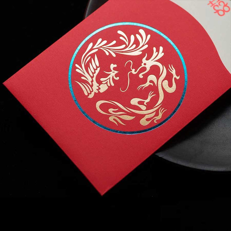 40 PCS Unique Chinese Wedding Invitation Set with Tassel Design on Card