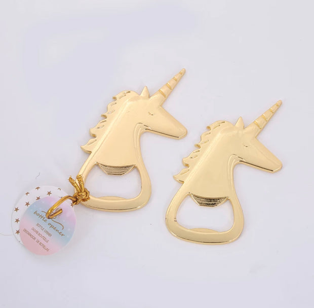 50 PCS Mystical Unicorn Bottle Opener Wedding Favors