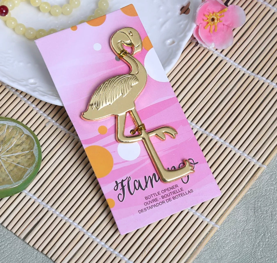 50 PCS Chic Flamingo Bottle Opener Wedding Favors