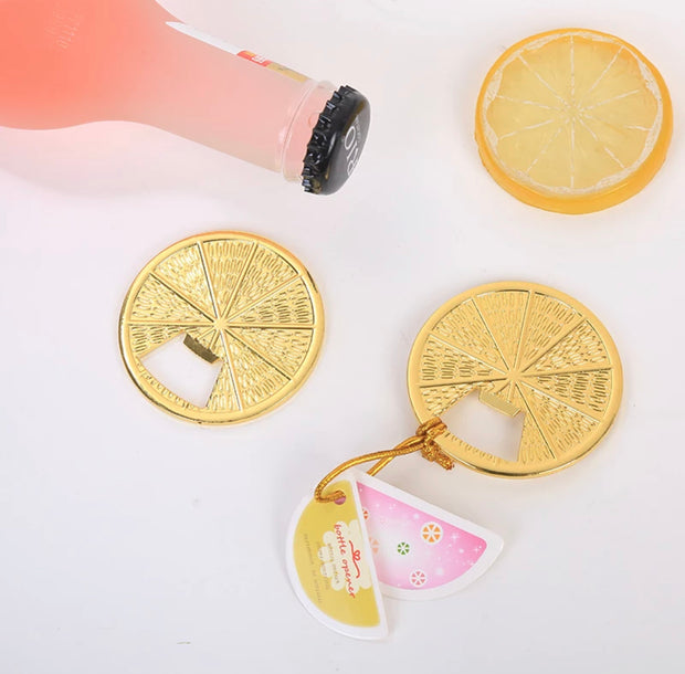 50 PCS Trendy Lemon Slice Bottle Opener Wedding Favors