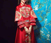 Wedding Kua 龍鳳卦/秀禾服 in Layered Red & Gold