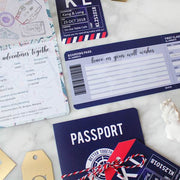 40 PCS Airplane Ticket Wedding Invite in Navy Blue