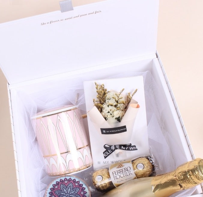 3 PCS & Up Black Bridesmaid Gifts Box with Matching Ribbon