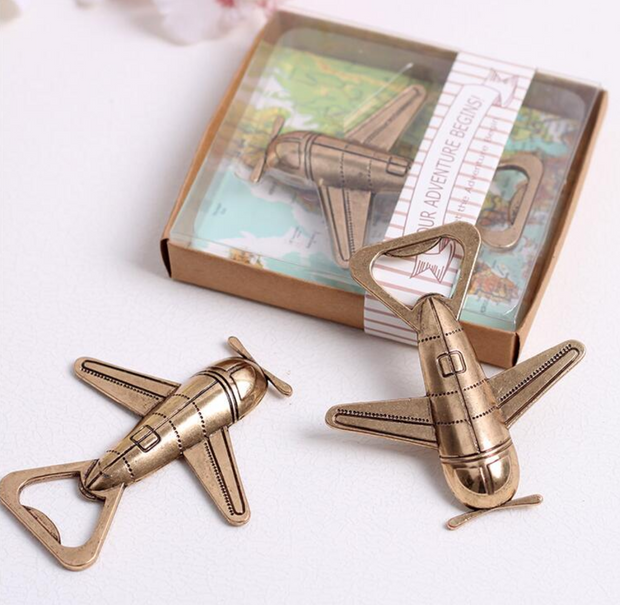 50 PCS Airplane Bottle Opener Wedding Favors