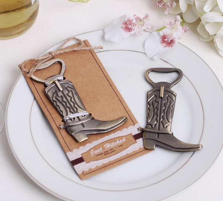 50 PCS Ranch Cowboy Boot Bottle Opener Wedding Favors