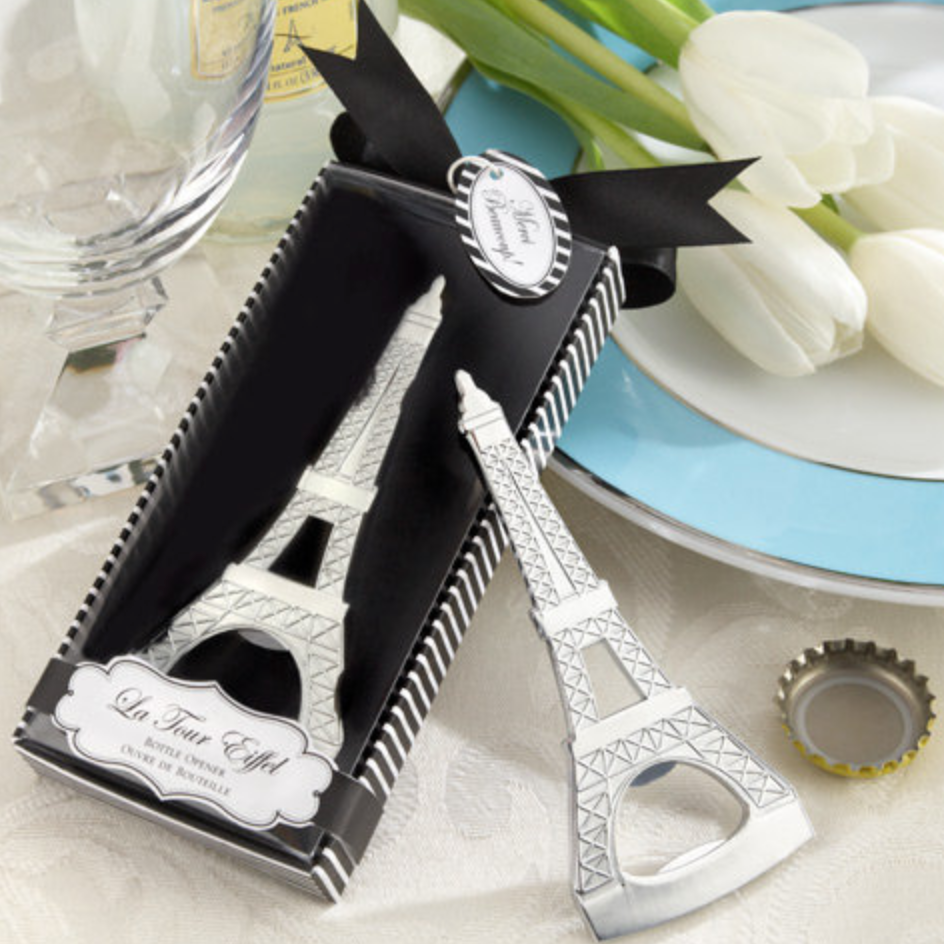 50 PCS Eiffel Tower Paris Bottle Opener Wedding Favors