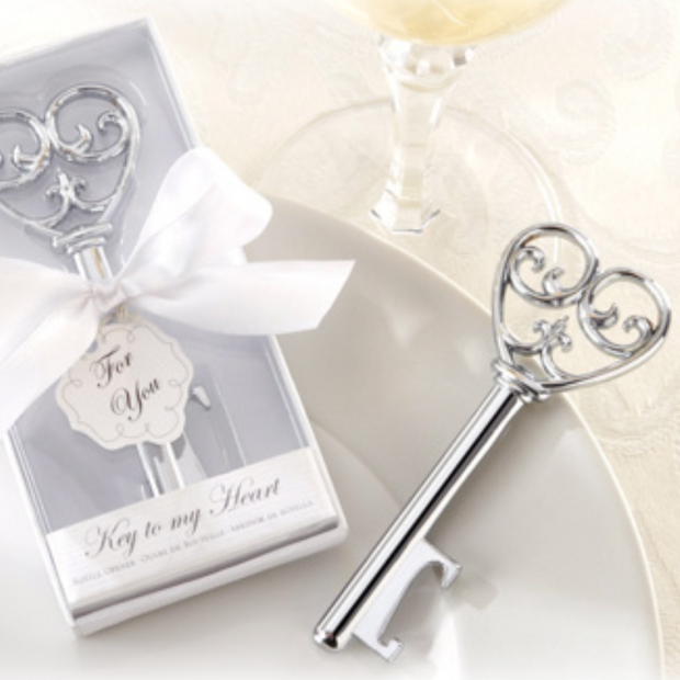 50 PCS Heart Key Bottle Opener Wedding Favors