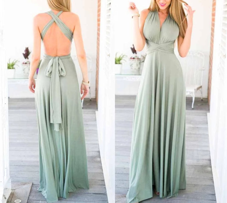Forest Green Convertible Infinity Multiway Wrap Bridesmaids Dresses