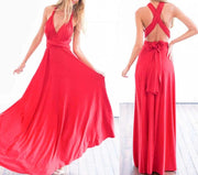 Classic Red Convertible Infinity Multiway Wrap Bridesmaids Dresses