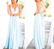 Light Blue Convertible Infinity Multiway Wrap Bridesmaids Dresses