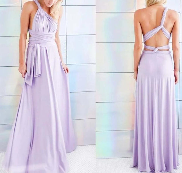 Slate Gray Convertible Infinity Multiway Wrap Bridesmaids Dresses