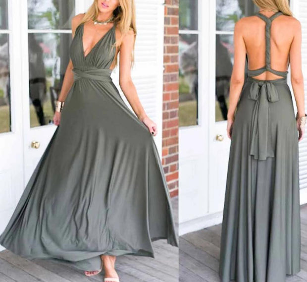 Sage Green Convertible Infinity Multiway Wrap Bridesmaids Dresses