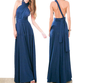 Navy Blue Convertible Infinity Multiway Wrap Bridesmaids Dresses