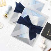 60 PCS Galaxy Star Gaze Invites - Main Invite & Translucent Sheer Vellum Envelopes