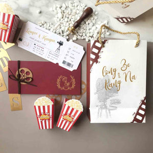 60 PCS Movie Ticket Invitations with Film/Theater Theme