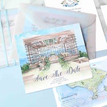 60 PCS Bali Alila Uluwatu Watercolor Illustration Wedding Invitations