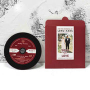 60 PCS Love Song rpm Vinyl Disc Record Wedding Invitations