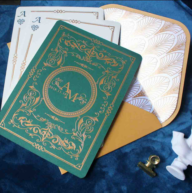 60 PCS Playing Cards Poker Ace Wedding Invitations