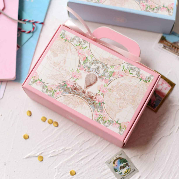 50 PCS Pink Luggage Gift & Favor Boxes for Wedding Candy