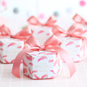 50 PCS Pink Flamingo Candy Boxes for Wedding Guest Favors