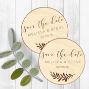 50 PCS Magnet Wedding Favors with Wooden Carving and Custom Design