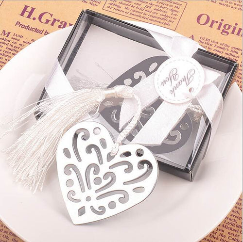 50 PCS Precious Heart Bookmark Wedding Gifts & Favors