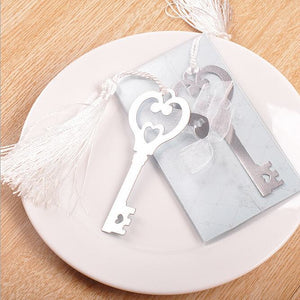 50 PCS Key to Your Heart Bookmark Wedding Gifts & Favors