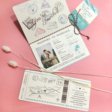40 PCS Personal Passport Wedding Invitation Pack