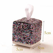 "60 PCS ""All That Glitters"" Gold Glitter Candy Favor Boxes"