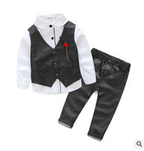 Blue Boy Suits for Ring Bearers, Flower Boys, or Wedding Guests - 3 Piece Vest + Pants + Shirt (3T - 7)