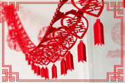 8 PCS Joyous Hanging Auspicious Double Happiness Garland