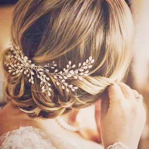 Luxurious Handmade Pearl Wedding Crown