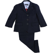 Black Wedding Suit for Little Boys, Ring Bearers, Flower Boys - Pants, Vest, Coat Set (6M - 13T)