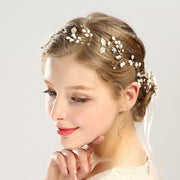 Whimsical Bridal Wedding Accessory Hairband with Adjustable Back
